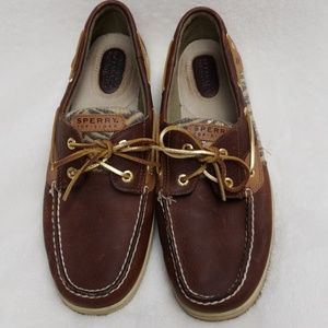 Sperry Top Sider Tiger Print Boat Shoes